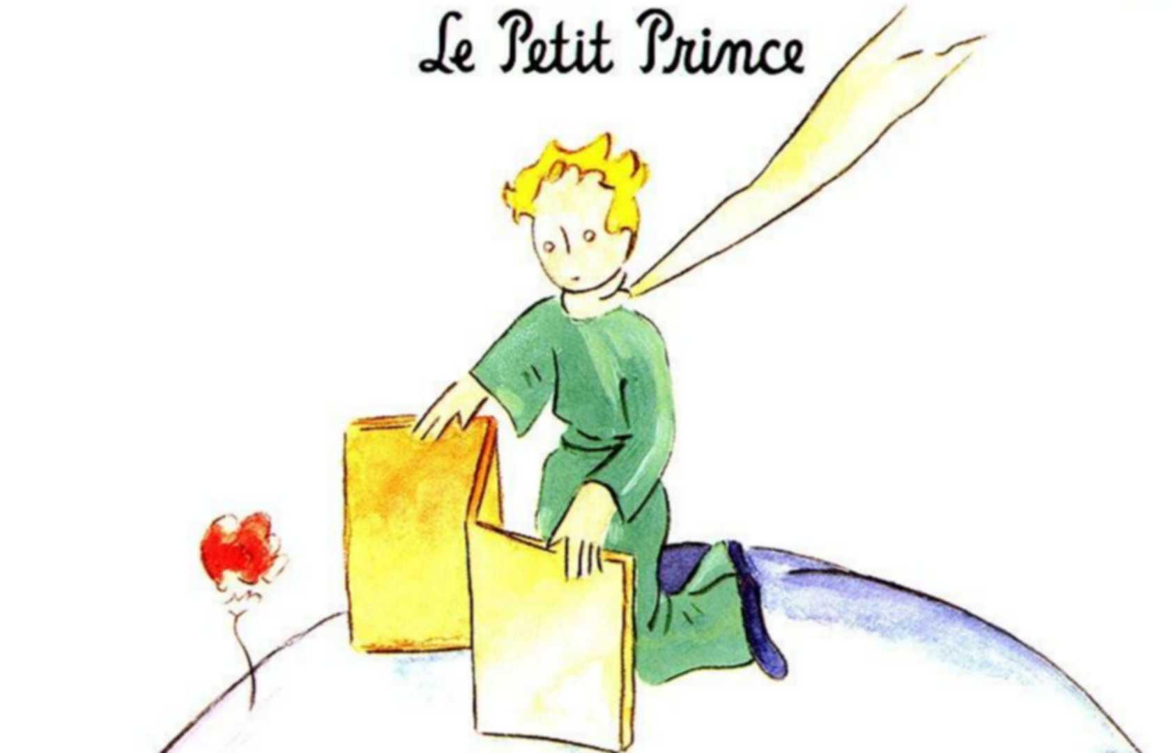 Рисунок маленький принц и роза 3